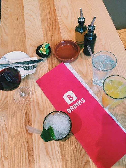 A big drinks menu 🙌