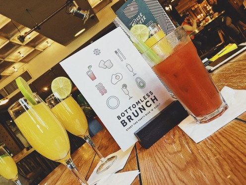 Mimosa and Bloddy mary